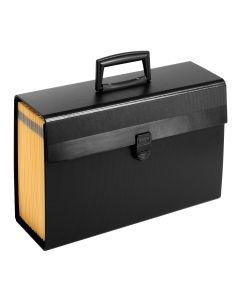 "Pendaflex® Expanding Organizer, 15 1/8""x 10 5/8"", Black"