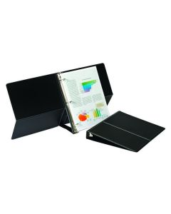"Easel Ring Binder, Vertical, 1"", 8-1/2"" x 11"", Black"