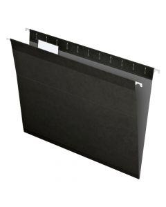 Pendaflex® Reinforced Hanging Folders, Letter Size, Black, 1/5 Cut, 25/BX