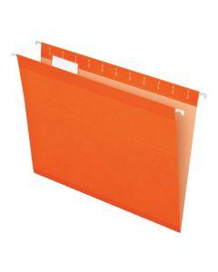 Pendaflex® Reinforced Hanging Folders, Letter Size, Orange, 1/5 Cut, 25/BX
