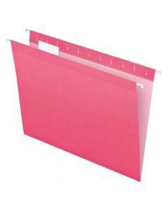 Pendaflex® Reinforced Hanging Folders, Letter Size, Pink, 1/5 Cut, 25/BX