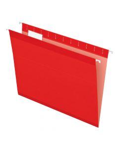 Pendaflex® Reinforced Hanging Folders, Letter Size, Red, 1/5 Cut, 25/BX