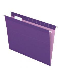 Pendaflex® Reinforced Hanging Folders, Letter Size, Violet, 1/5 Cut, 25/BX
