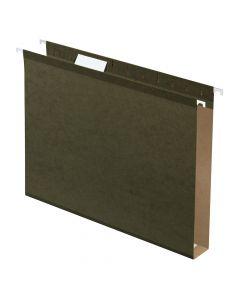 "Pendaflex® Extra Capacity Reinforced Hanging Folders, 1"", Letter Size, Standard green, 1/5 Cut, 25/BX"