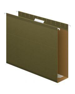 "Pendaflex® Extra Capacity Reinforced Hanging Folders, 3"", Letter Size, Standard green, 1/5 Cut, 25/BX"