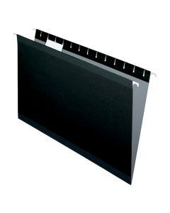 Pendaflex® Reinforced Hanging Folders, Legal Size, Black, 1/5 Cut, 25/BX