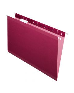 Pendaflex® Reinforced Hanging Folders, Legal Size, Burgundy, 1/5 Cut, 25/BX