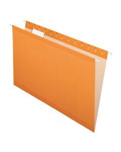 Pendaflex® Reinforced Hanging Folders, Legal Size, Orange, 1/5 Cut, 25/BX