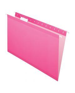 Pendaflex® Reinforced Hanging Folders, Legal Size, Pink, 1/5 Cut, 25/BX