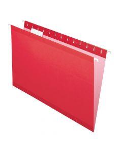 Pendaflex® Reinforced Hanging Folders, Legal Size, Red, 1/5 Cut, 25/BX