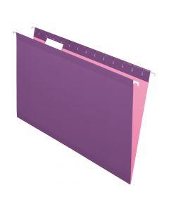 Pendaflex® Reinforced Hanging Folders, Legal Size, Violet, 1/5 Cut, 25/BX