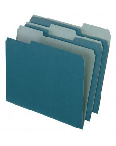 EarthWise® by Pendaflex® 100% Recycled File Folders, Blue, Letter Size, 100/BX