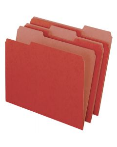 EarthWise® by Pendaflex® 100% Recycled File Folders, Red, Letter Size, 100/BX