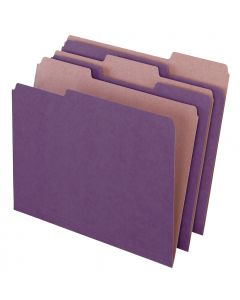 EarthWise® by Pendaflex® 100% Recycled File Folders, Violet, Letter Size, 100/BX
