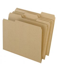 EarthWise® by Pendaflex® 100% Recycled File Folders, Natural, Letter Size, 100/BX