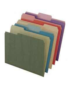 EarthWise® by Pendaflex® 100% Recycled File Folders, Assorted, Letter Size, 50/BX