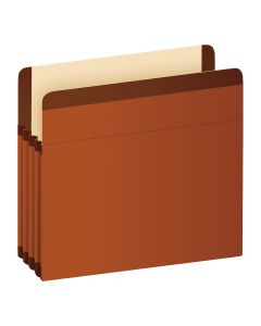 "Pendaflex® Premium Reinforced File Pockets, Letter Size, Brown, 3.5"" Expansion, 10/BX"