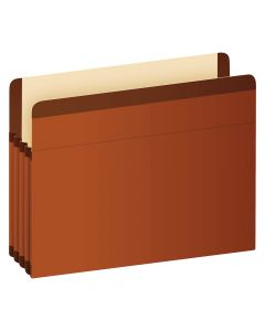"Pendaflex® Premium Reinforced File Pockets, Legal Size, Brown, 3.5"" Expansion, 10/BX"