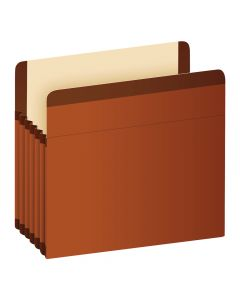 "Pendaflex® Premium Reinforced File Pockets, Legal Size, Brown, 5.25"" Expansion, 5/BX"