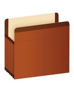 """Pendaflex® Premium Reinforced File Pockets, Legal Size, Brown, 5.25"""" Expansion, 5/BX"""