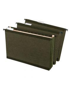 Pendaflex® SureHook® Reinforced Extra Capacity Hanging Pockets, Legal Size, Standard Green, 4/PK