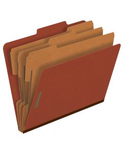 Pressboard Classification Folders, Letter size, Brick Red