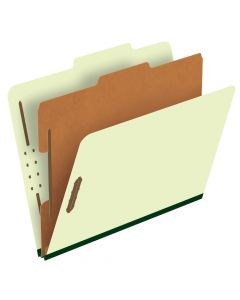Pressboard Classification Folders, Letter size, Corona Green