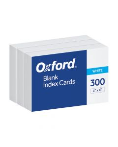 """Oxford® Blank Index Cards, 4"""" x 6"""", White, 300 Per Pack"""