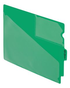 Index - Out Guide - End Tab, Poly, 1/5 Center Tab, Green, 50BX, Letter