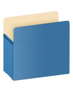 "Pendaflex® Color File Pockets, Letter Size, Blue, 5.25"" Expansion, 10/BX"
