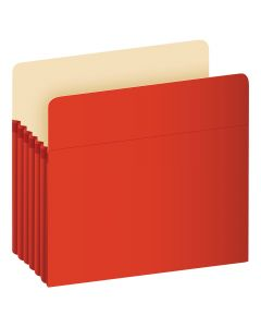"Pendaflex® Color File Pockets, Letter Size, Red, 5.25"" Expansion, 10/BX"