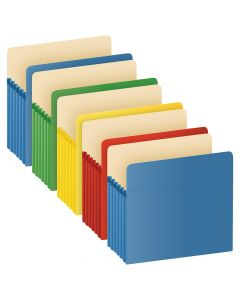 "Pendaflex® Color File Pockets, Letter Size, Assorted Colors, 5.25"" Expansion, 5/Pack"