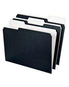 Earthwise® Pendaflex® File Folders, Letter Size, 3 Tab, Black/White, 50/PK