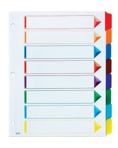 Oxford® Omni-Dex™ Colour- Coded Tab Dividers, 8 Tab, Assorted