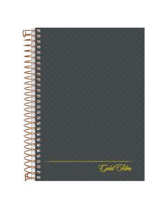 """Ampad® Gold Fibre® Personal Notebook, 5"""" x 7"""", College Ruled, Gray Cover, 100 Sheets"""