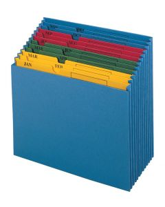 Expanding Files, Without Flap, Jan-Dec Tabs, 12 Pockets, Letter, 10 EA/CT