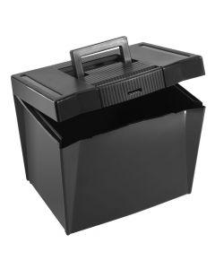 "Pendaflex® Economy File Box, Black, 10-7/8"" H x 13-1/2"" W x 10-1/4"" D"