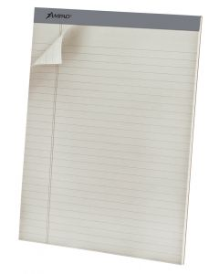 Ampad® Pastel Writing Pads, 8.5 x 11.75, Wide Ruled, Gray, 40 Sheets