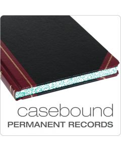 """Boorum & Pease® Record Book, 21 Series,5x5 Quad Ruled, 8-1/8"""" x 10-3/8"""", 150 Pages"""