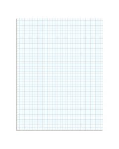 "Ampad® Graph Pad, 8-1/2"" x 11"", Glue Top, Graph Rule (4 x 4), 50 Sheets"