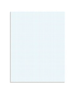 "Ampad® Graph Pad, 8-1/2"" x 11"", Glue Top, Graph Rule (5 x 5), 50 Sheets"