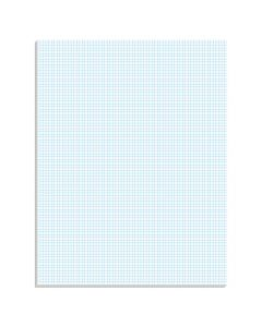 "Ampad® Graph Pad, 8-1/2"" x 11"", Glue Top, Graph Rule (8 x 8), 50 Sheets"