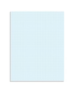 "Ampad® Graph Pad, 8-1/2""x 11"", Cross-Section Rule (10 x 10), Glue Top, 40 Sheets"