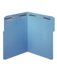 Fastener Folders, Blue, 2-fastener, Letter, 1/3 Tab, 50/BX