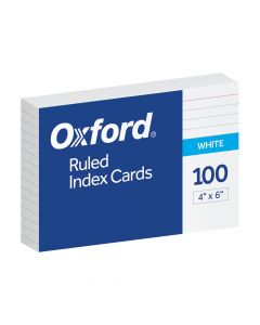 """Oxford® Ruled Index Cards, 4"""" x 6"""", White, 100 Per Pack, 20 Pack PDQ"""