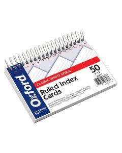 """Oxford® Wirebound Index Cards, 3"""" x 5"""", White"""