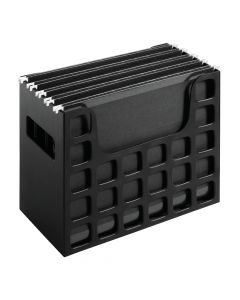 "Pendaflex® DecoFlex® Desktop File, 9-1/2"" H x 12-1/4"" W x 6"" D, Black, Each"