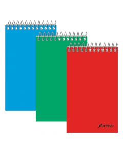 """Ampad® Top-Bound Memo Books, 3"""" x 5"""", Narrow Rule, Assorted Color Covers, 60 Sheets, 12 Pack"""