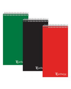 """Earthwise® by Ampad® Recycled Reporter's Notebooks, 4"""" x 8"""", Pitman Rule, 70 Sheets, Assorted Color 3-Pack"""