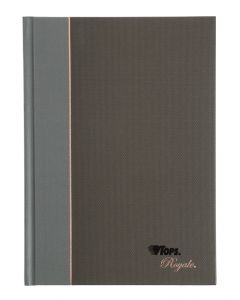 "TOPS Royale® Executive Notebook, Casebound, 8-1/4"" x 5-7/8"", College Rule, Black Covers, 96 SH, 5 BK/BX"